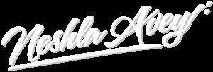Neshla Avey psychic healer tarot reader logo signature white