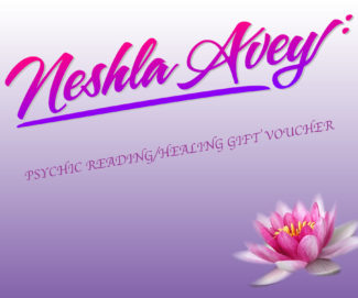 Neshla Avey Gift Voucher for psychic readings & healing