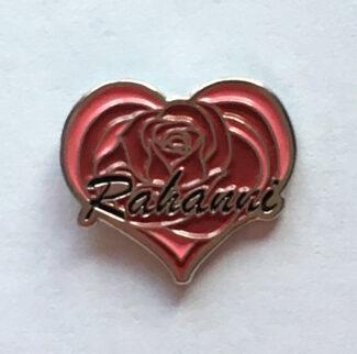Rahanni Pin Rose Heart Badge Neshla Avey
