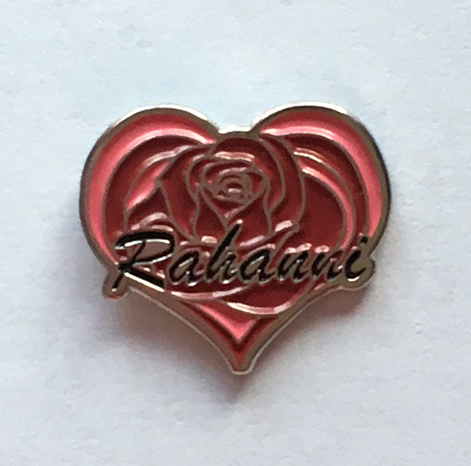 Rahanni Pin Rose Heart Badge Neshla Avey