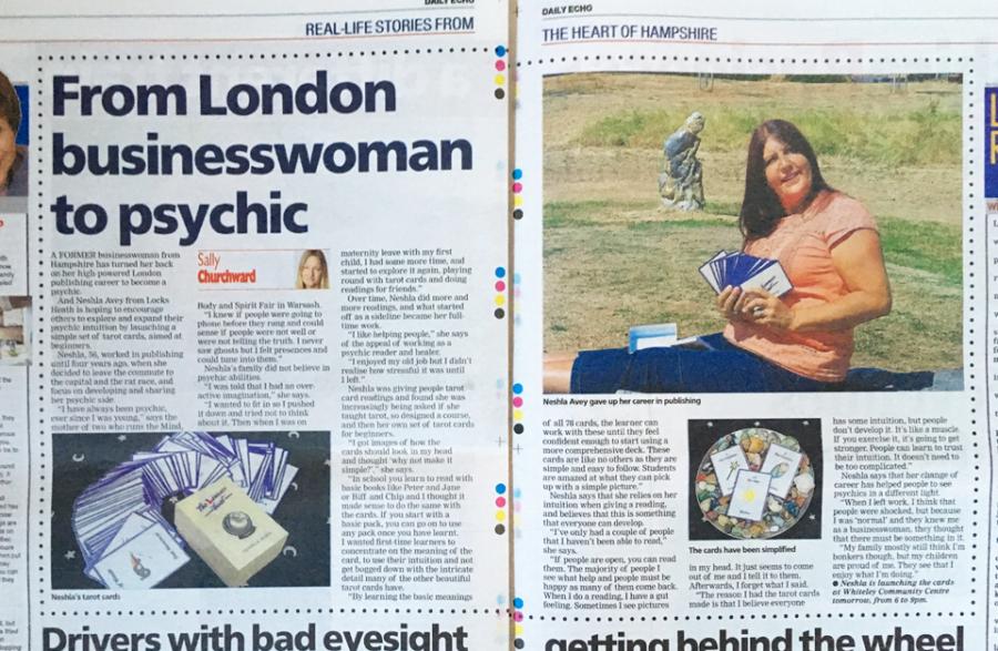 Neshla Avey in the Daily Echo Newspaper November 2018
