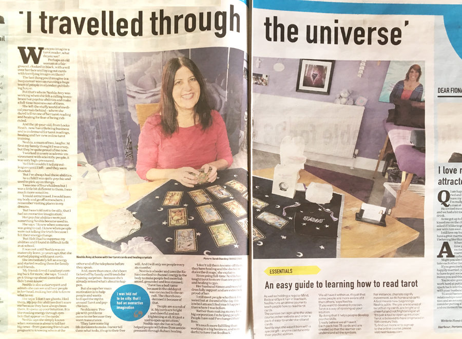 Neshla Avey, Psychic in the Portsmouth News - I travelled through the Universe