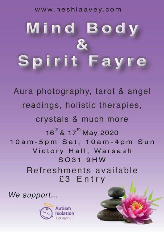 Mind Body & Spirit Fayre May 16-17 2020