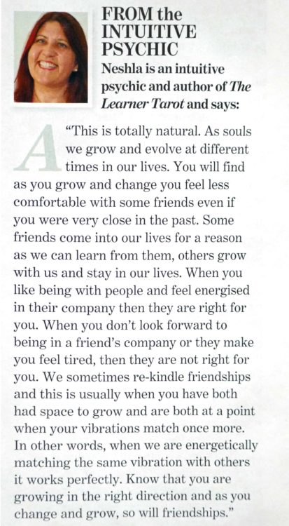 Soul & Spirit Magazine March 2020 Neshla Avey Article