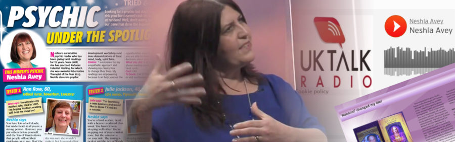 Neshla Avey intuitive psychic tarot reader healer Neshla in the media Header